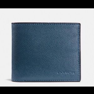 Coach Cross Grain Leather Wallet